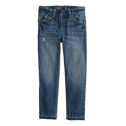 Girls' distressed Riley jean