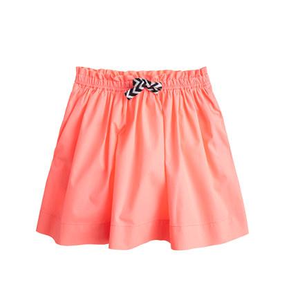 Girls' pleated cotton skirt