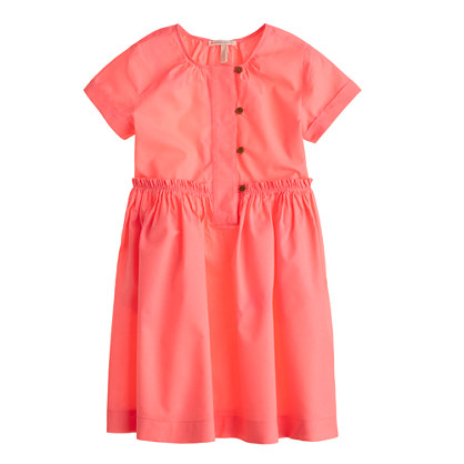 Girls' pleated dress