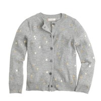 Girls' Caroline cardigan sweater in glitter stars