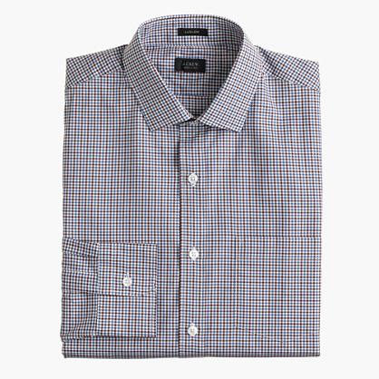 Ludlow shirt in brown tattersall