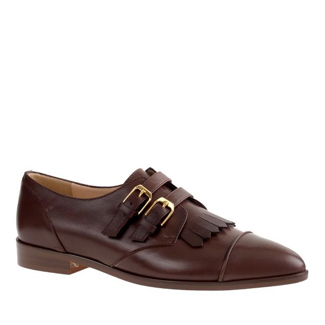 Kiltie monk strap loafers