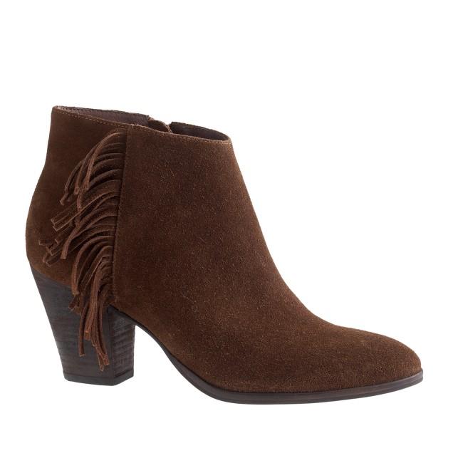 Laine suede fringe boots