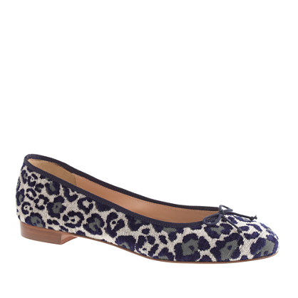 Kiki leopard ballet flats