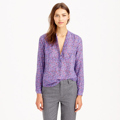Voile popover shirt in Liberty Emma and Georgina hyacinth floral
