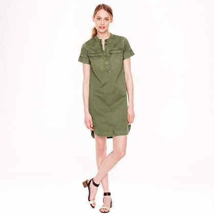 Military shirtdress