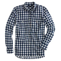 Petite gingham utility shirt