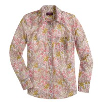 Boy shirt in Liberty tiny poppydot floral