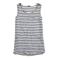 Linen studded tank in stripe