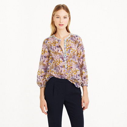 Popover shirt in Liberty mixed floral
