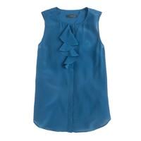Silk ruffle blouse
