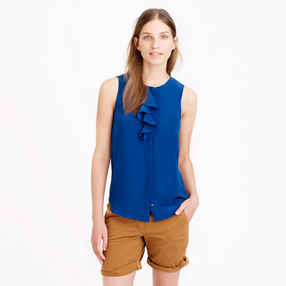 Silk Ruffle Sleeveless Blouse 22