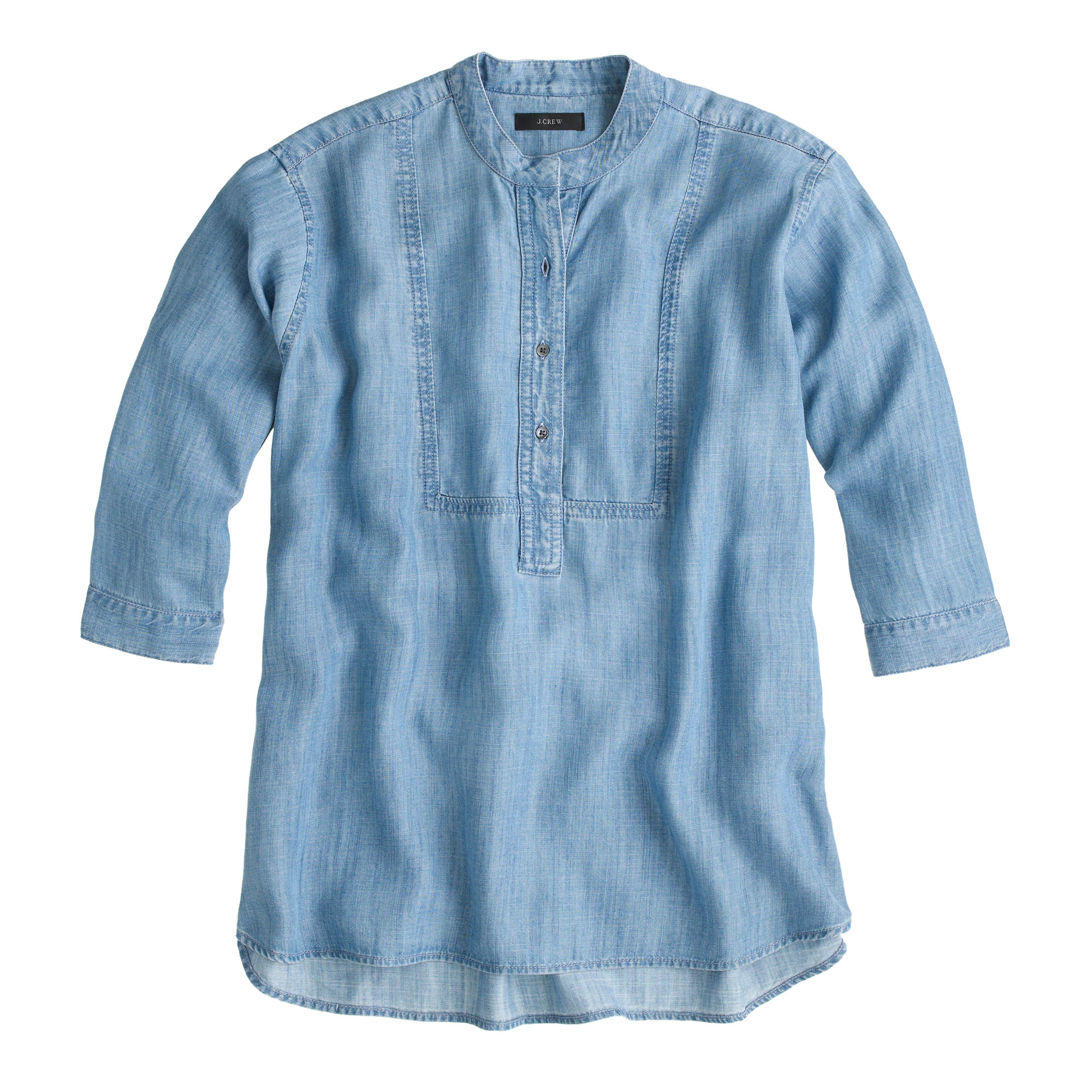 Drapey chambray popover shirt women shirts j crew for Chambray shirt women