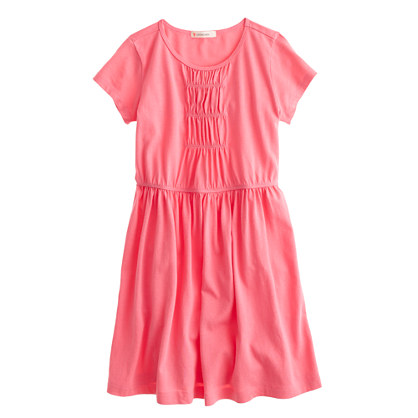 Girls' ruched T-shirt dress