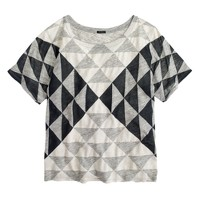 Drapey triangle T-shirt