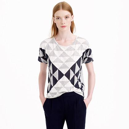 Drapey triangle T-shirt