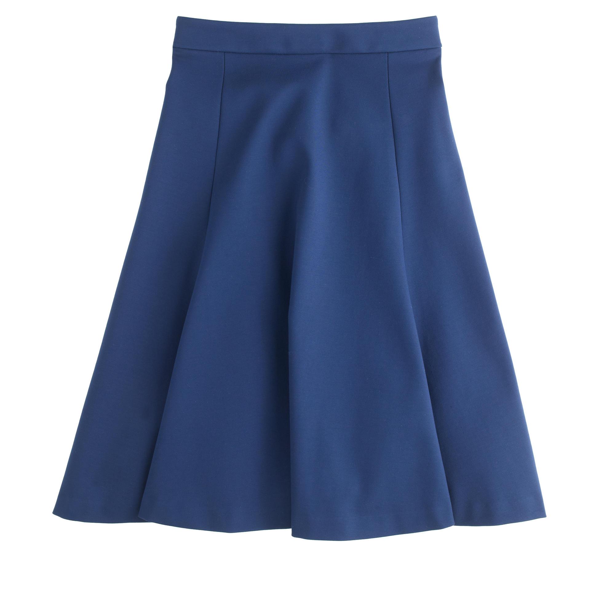 structured a line skirt j crew