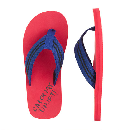Kids' lobster flip-flops