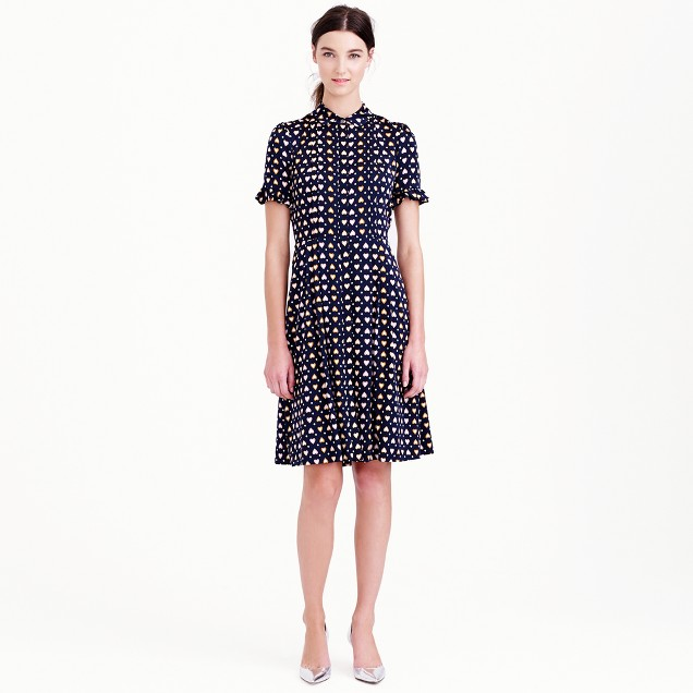Heart dot shirtdress