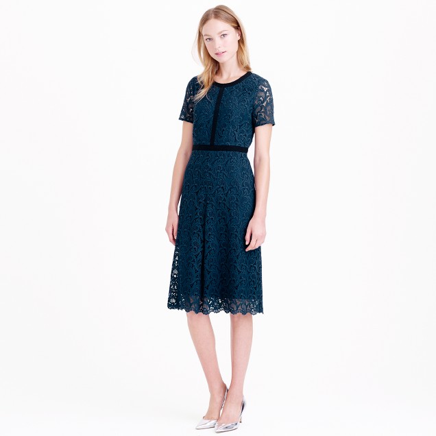 Collection grosgrain lace dress