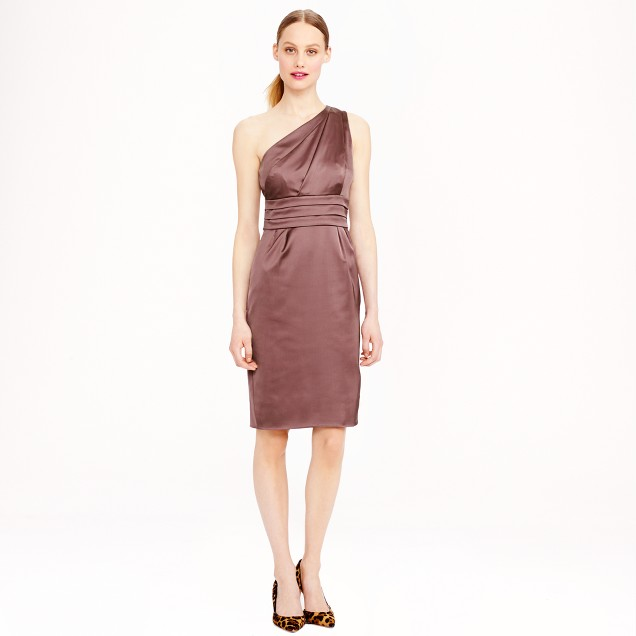 Arianna dress in stretch satin