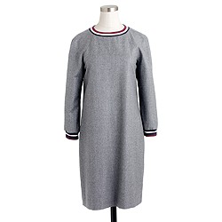 Petite Collection wool flannel varsity dress