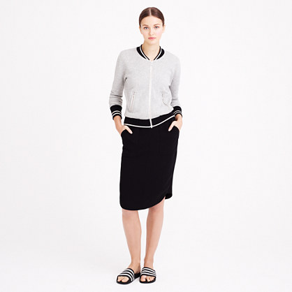 Crepe shirttail skirt