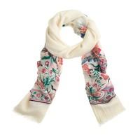 Floral border scarf