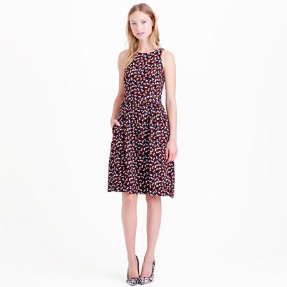 Shattered print dress