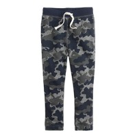 Boys' classic sweatpant in navy camo
