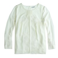 Collection silk peasant top