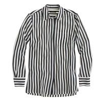 Classic silk shirt in stripe