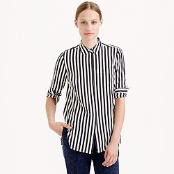 Classic silk shirt in stripe