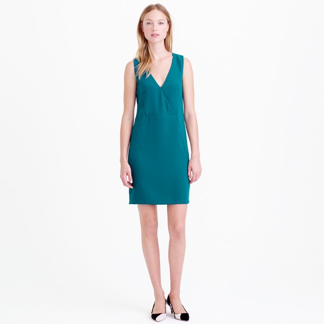 Crepe crossover dress