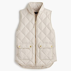 Petite excursion quilted down vest