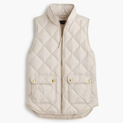 Petite excursion quilted down vest