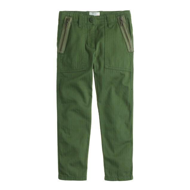 Girls' utility pant