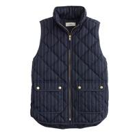 Excursion vest in pinstripe