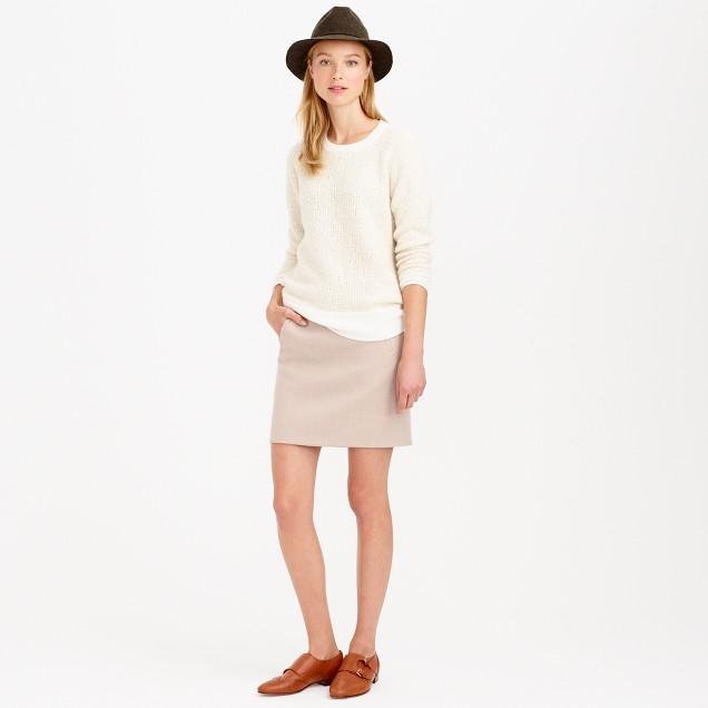Zip-pocket mini skirt