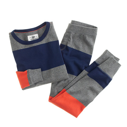 Boys' pajama set in flannel stripe