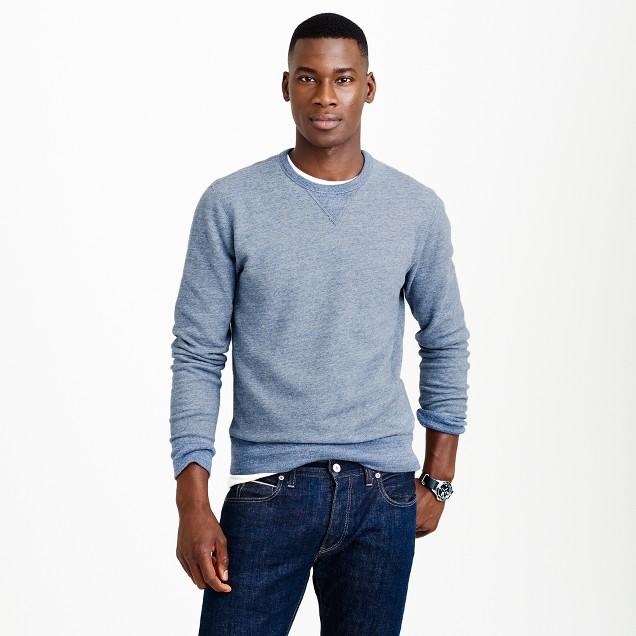 Solid sweatshirt in delta blue