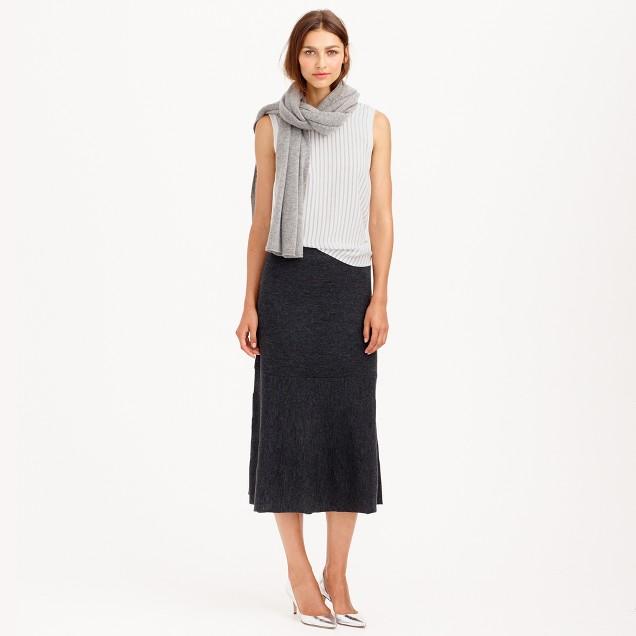 Petite merino wool skirt
