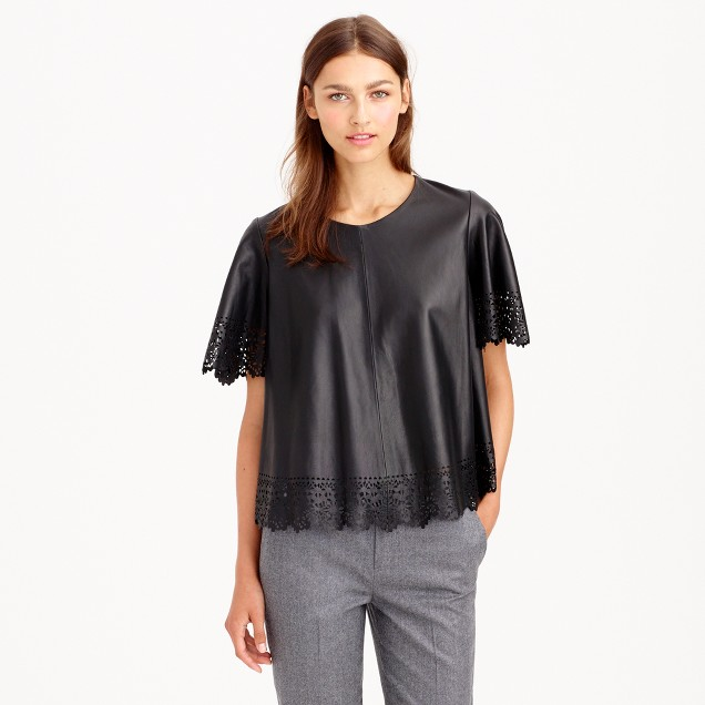 Collection laser-cut leather top