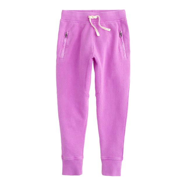 Girls' skinny zip sweatpant