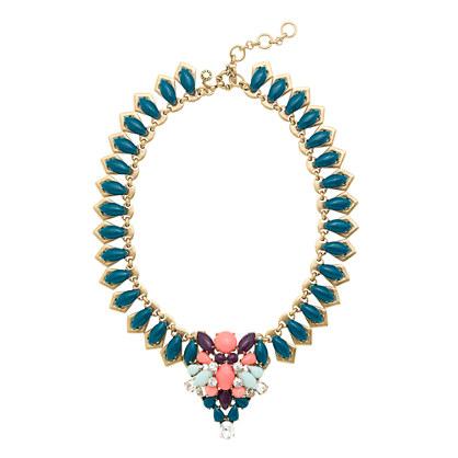 Stone medallion necklace