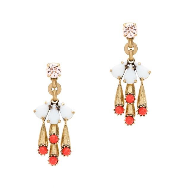 Color cascade earrings