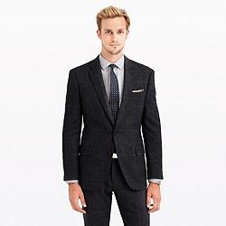 Crosby suit jacket in herringbone windowpane English wool
