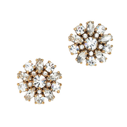 Jeweled button earrings