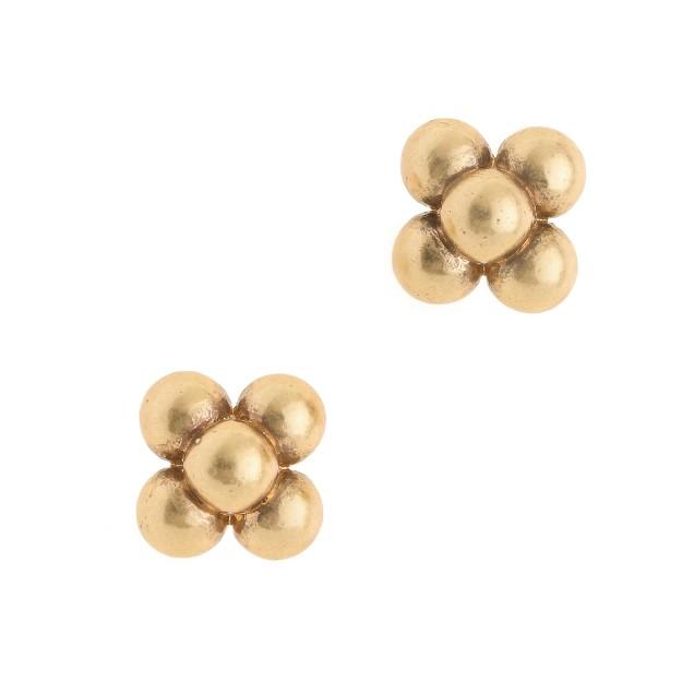 Brass bubble earrings