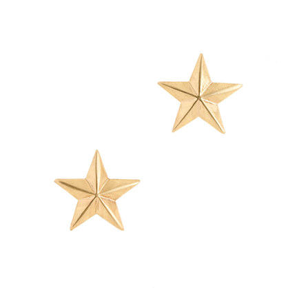 Brass star earrings